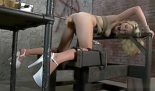 Rylie Richman Tied Thing embrace Contraption Doggy Hunt for