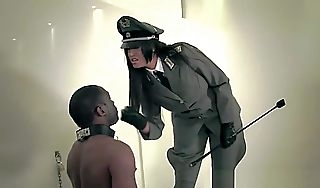 Rough Femdom Punishes Negro Dutiful