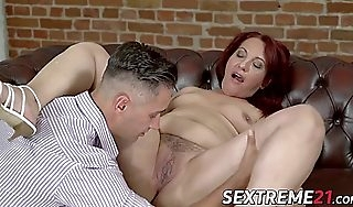 Granny redhot mary earns facial monitor riding hard locate