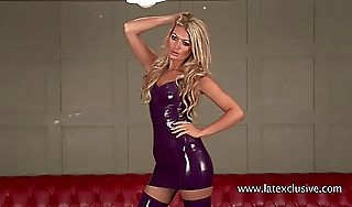 Charlotte purple latex garments ampamp stockings