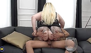 Obese aggravation adult wives fucks lucky boys