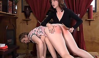 Disobedient girl spanked plus paddled