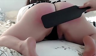 Little Girl Gets Spanked by Big Breastfeed