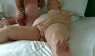 70 excellence old granny sucks my cock and baloney and drinks cum