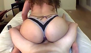 Young Hot Wife Fucks Husband Slow Reverse Cowgirl Depending on He Cums