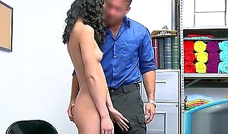 Frizzy lovely Jada Doll gets deep penetrated by a guard