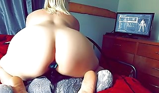 Gaming and RidingDark Souls Nerdy Milf Rides StrapOn For ages c in depth Playing