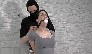 Sexy German Girl is bound gagged  fondled