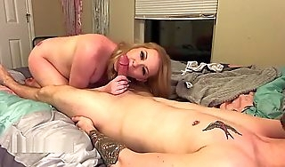 Real Intimate Handjob with Pregnant GF