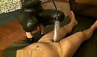 Human slave  penis catechize by Mistress Antonella