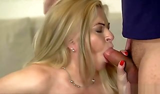 Big tit blonde GILF fucked tough