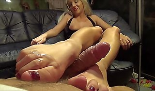 After pack footjob German amateur