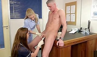 CFNM FEMDOM nurses orally checking weasel words