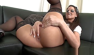 Busty European whore takes BBC connected with their way ass