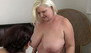 OldNannY Lacey Starr Having Lesbian Threesome