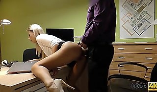LOAN4K Sexy blonde pays for her debts using her absolute