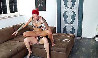 Lesbian Possession Sex German Teen Mistress with Strapon