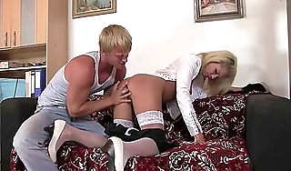 Punished office girl takes rough banging from behind