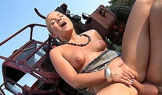 Farmers Daughter Fuck Outdoor Anal by White Monster Horseshit Pauper