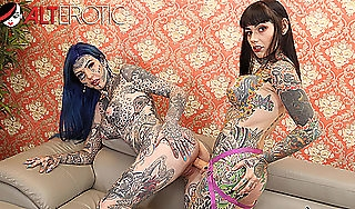 Tattooed babes Amber Luke amp Tiger Lilly duplicate fool around with toys