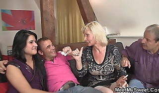 His GF gets hustling nearly a family threesome orgy