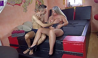 His first milf! 18 year old young load of shit fucked me bareback!