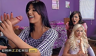 Pulchritudinous Gina Valentina Gia Paige and Elsa Jean Frowardness and Pussy